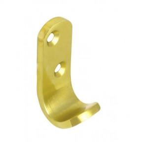 Single robe Hooks Gold Aluminium