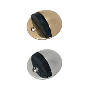 solid brass half moon door stops