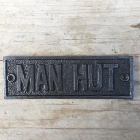 Cast Iron Manhut Plaque