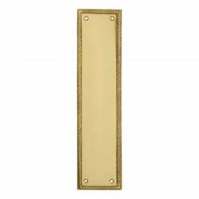 Plain Georgian Polished Brass Finger Plate
