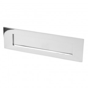 "16"" Plain Letter Plate Polished Chrome"