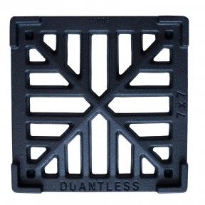 Gulley Gutter Lid Square Black 6""
