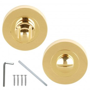 Bathroom Thumb Turn Door lock Polished Brass