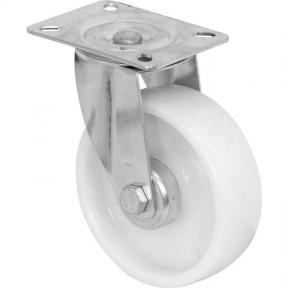 White Plastic Castor Wheel 75mm Swivel