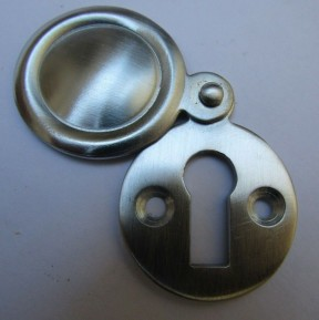 Victorian Covered Escutcheon Satin Chrome