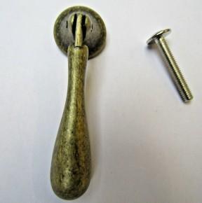 Tear Drop Cabinet Pull Handle Antique Brass