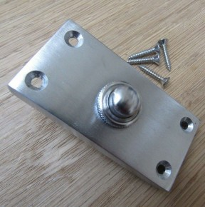 Plain Victorian Large Bell Push Satin Chrome