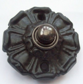 Poppy Small Bell Push Black Antique