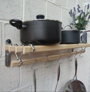 Chrome on Iron Kitchen Pot Pan Rack 0.9m