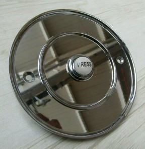 "4"" Large Ceramic Bell Push Polished Chrome"