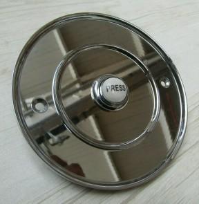 "4"" Large Ceramic Bell Push Polished Chrome"