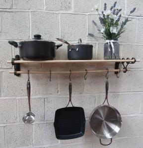 Antique Iron Kitchen Pot Pan Rack 0.9m