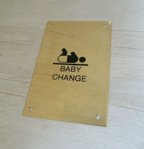 "6"" Baby Change Door Sign"