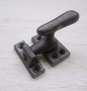 Old Showcase Lock Latch Antique Iron