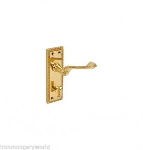 Georgian brass bathroom Mortice Door Lock