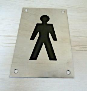 "6"" Stainless Steel Male Door Sign"