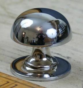 Mushroom Solid Brass Cabinet Knob Polished Chrome
