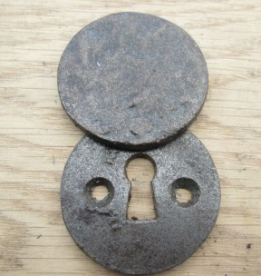 Round Covered Escutcheon Antique Iron