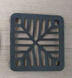 """Rustic Cast Iron Gulley Gutter Lid Square Black 6"""""""
