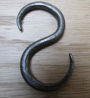 60mm Handforged S Hook Antique Iron