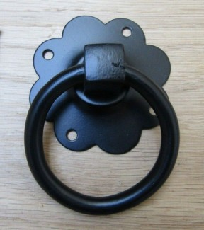 Ring Pull Handle Black Plain