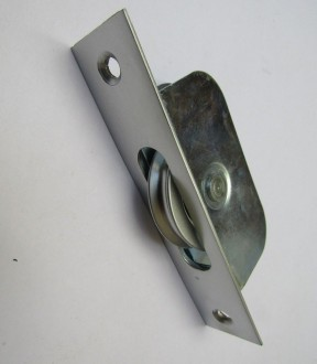 Satin Brushed Chrome Axle Roller Sash Window Pulley