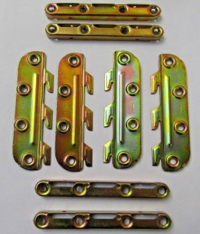 Set Of Knock Down Bed Fittings 130mm