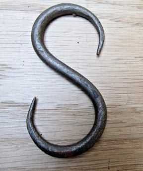 70mm Handforged S Hook Antique Iron