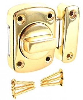 Bathroom Thumturn catch Polished Brass