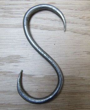 80mm Handforged S Hook Antique Iron