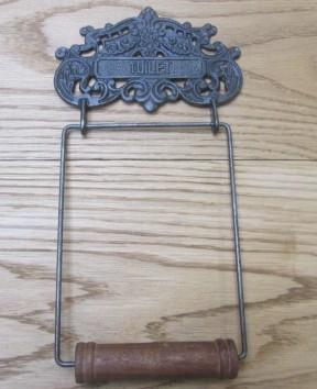 Ornate Decorative Toilet Roll Holder Antique Iron