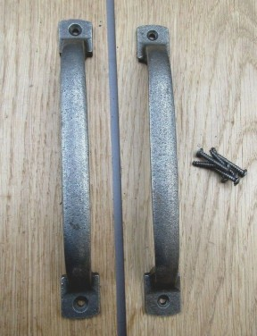 185mm Chunky Door Pull Handle Antique Iron