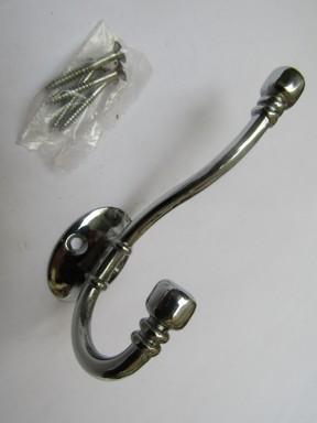 Ball End Coat Hook Polished Chrome
