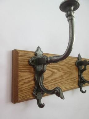 Antique iron Noble Coat Hook Rail
