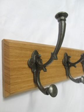 "Antique Iron 6"" Regal 5 Hook Coat Rail 58cm"