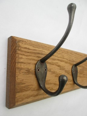Antique Iron Retro 3 Hook Coat Rail 38cm