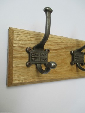 Retro Union Jack 3 Hook Coat Rail 38cm