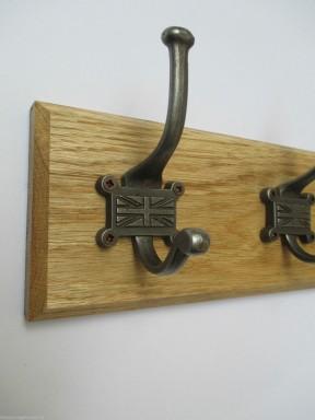 Retro Union Jack 4 Hook Coat Rail 48cm