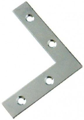 Pack Of 10 Flat L Plates Silver Zinc