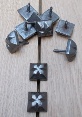 Pack of 10 Door Studs Ornate Decorative Antique Iron