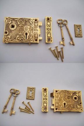 Replica Georgian rim lock