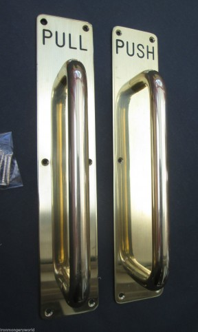 Brass Handle On Plate