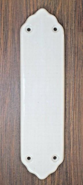 White Ceramic Finger Plate