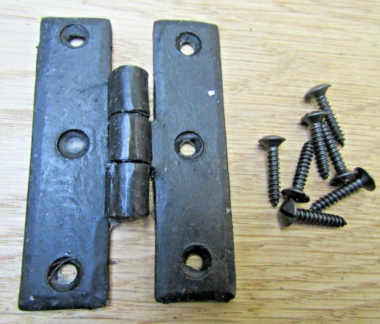 "Pair of 3"" handforged blacksmith wrought iron h hinge ..."