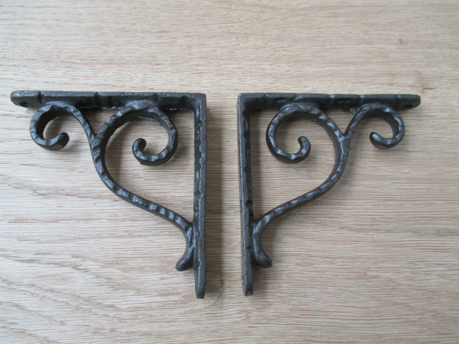 4 Quot Antique Vintage Scroll Hammered Brackets Cast Iron