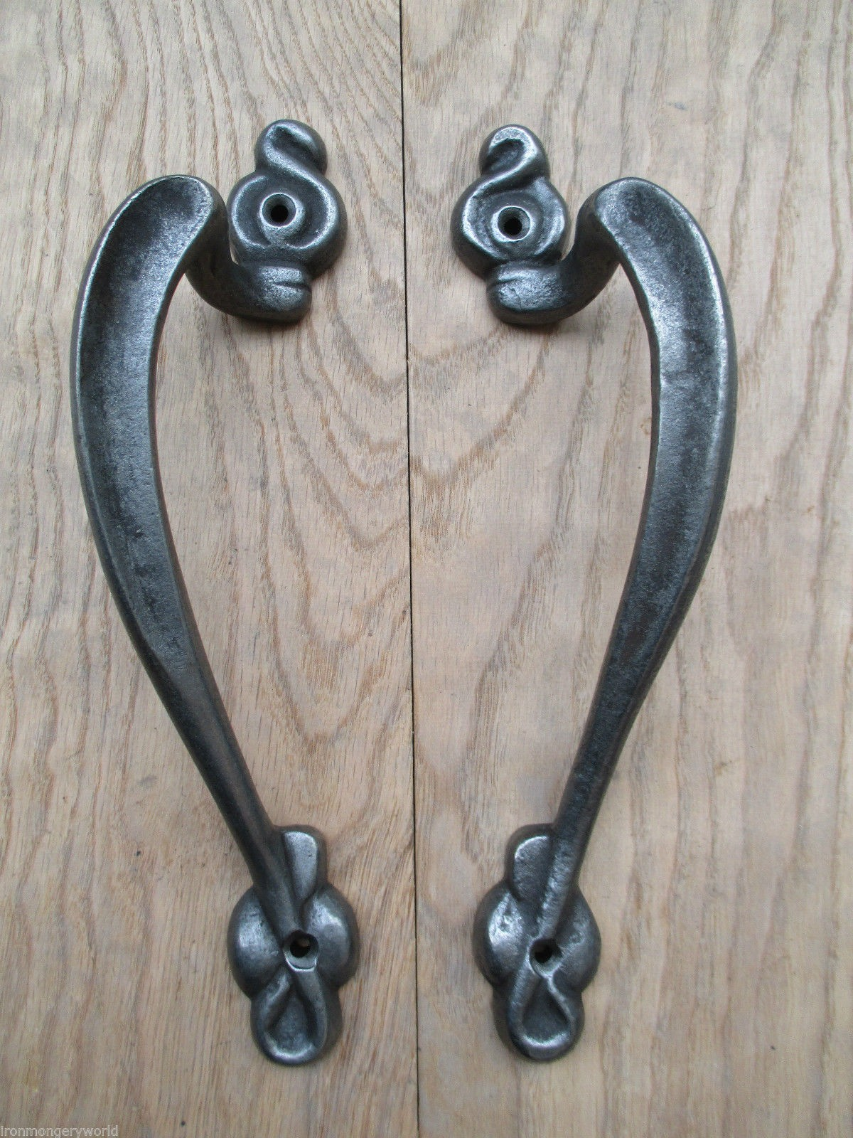 PAIR   Vintage Cast Iron Door Pull Handles