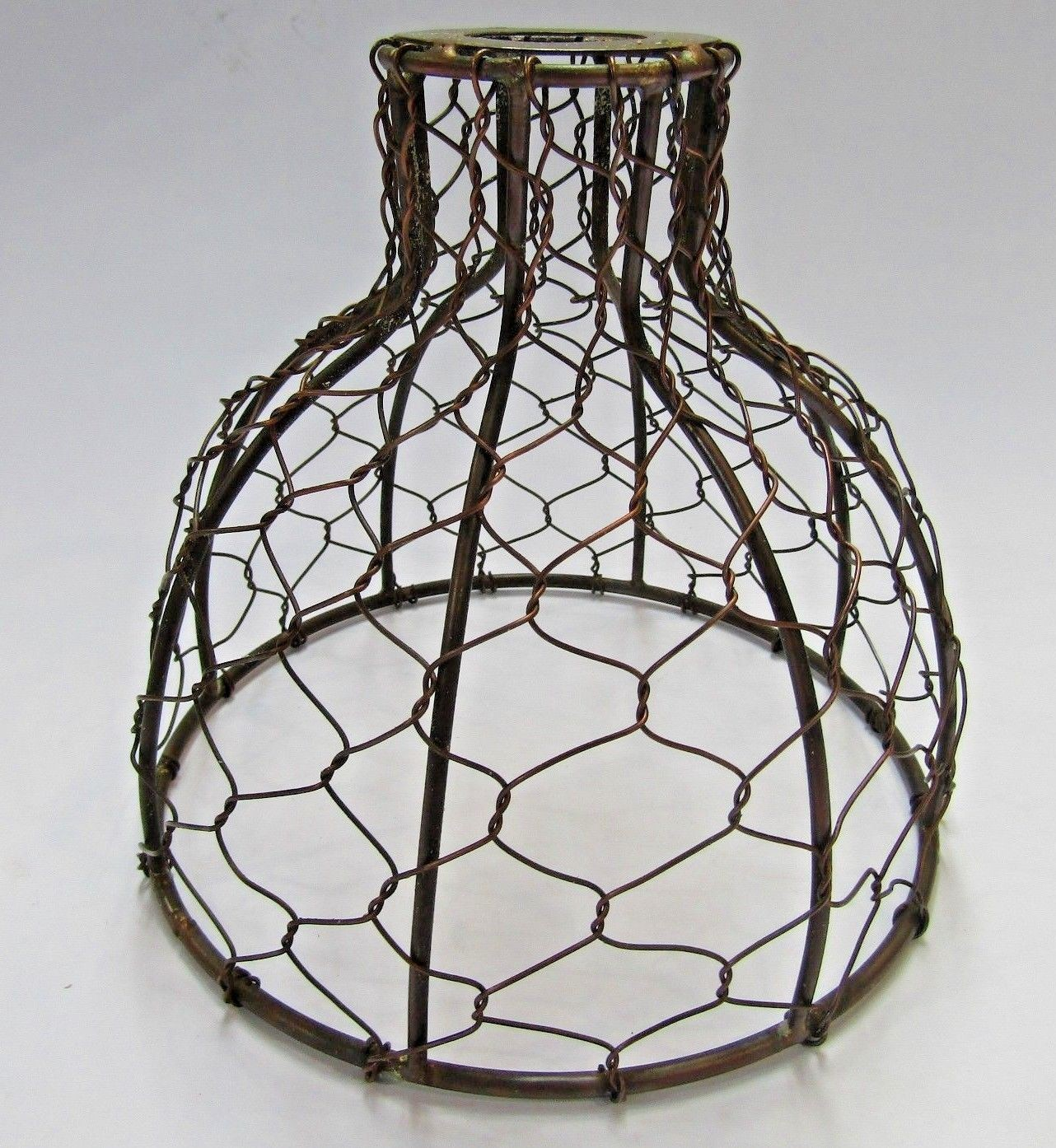 Wire Lampshade Industrial Rustic Vintage Retro Old Ceiling Pendant Light Shade Ironmongery World