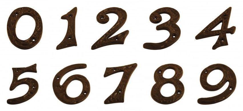 Black Antique House Door Numbers lightbox moreview - Black Antique House Door Numbers Ironmongery World
