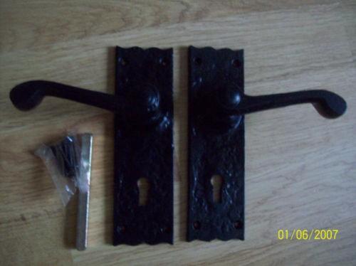Black Antique Lever Lock Handle Ironmongery World