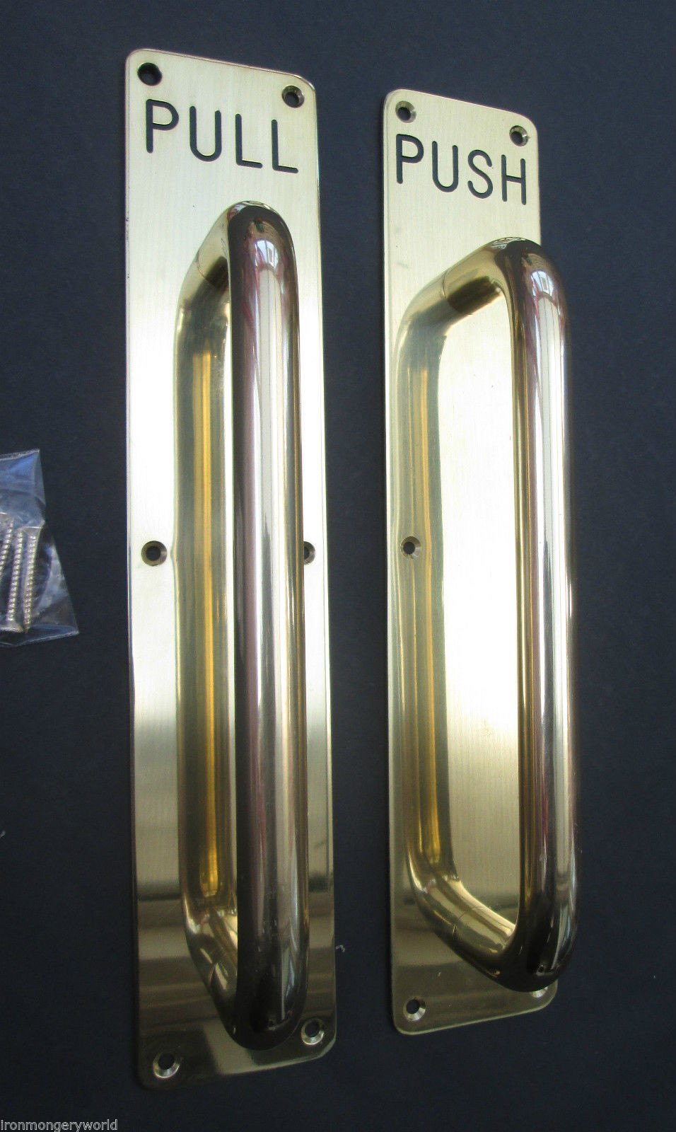 Brass Handle On Plate Ironmongery World
